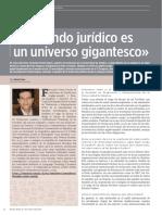 El mundo jurídico es un universo gigantesco