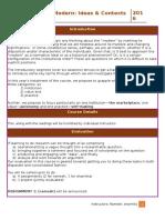 Course Description Modern 2016