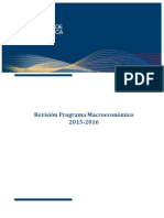 Revision Programa Macroeconomico 2015-16