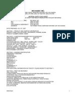 MSDS.cb0260 Calcium Oxide