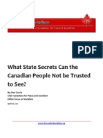 What State Secrets Can the Canadian People Not be Trusted to See?