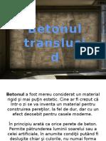 Betonul translucid Ilight