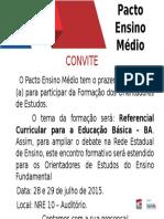 Convite Formação Pacto EM 2015
