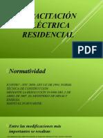 Capacitación eléctrica residencial