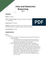 Inductive and Deductive Reasoning Lesson_Portfolio