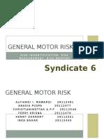 General Motor Risk Final