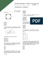 Simulado Matemática - Física - 50 Questões