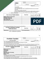 graduation portfolio checklist