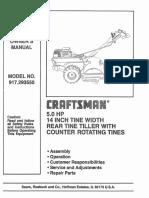 Craftsman Tiller L0806624
