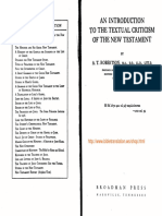 An Introduction to the Textual Criticism of the New Testament - A.T. Robertson
