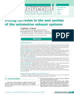 Pitting corrosion in the wet section  of the automotive exhaust systems