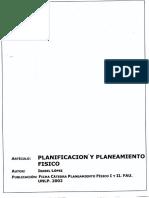 LOPEZ, Isabel 2002 Planificación y Planeamiento Físico. Punto 3. Ficha FAU-UNLP.