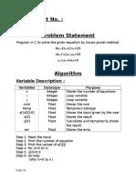 Gauss and jacobi c program