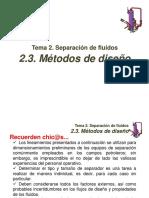 2. Separación de Fluidos, Subtema 2.3, Método Gráfico y API-12J