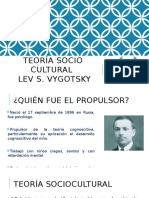 Teoría Sociocultural Lev Vigotsky Psicologia Educativa