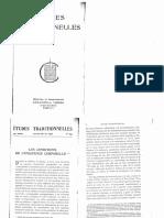 Études Traditionnelles 1952