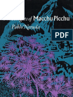 The Heights of Macchu Picchu - Pablo Neruda