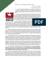 COMUNICADO PUBLICO - JUVENTUD REBELDE TEMUCO