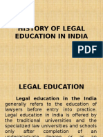 History of Legal Education in India