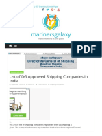 List of Dg Approved Shipping Companie