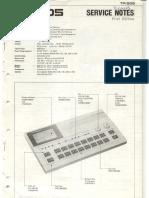 Roland TR-505 Service Notes