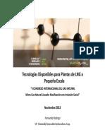 1 Tecnologias Disponibles Para Plantas de LNG Fernando Rodrigo