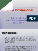 Etica Profesional - Dra. Belen