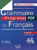 Grammaire Progressive Du Français 3rd Nouveau Livre- Niveau Intermédiaire