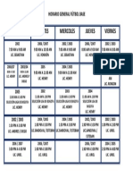 Horario General Futbol Base CLUB DEPORTIVO EOH