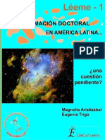 ARISTIZABAL, Magnólia; TRIGO, Eugenia. La Formación Doctoral en America Latina.
