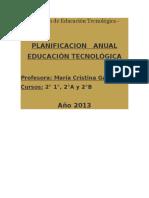 Planificación de Educación Tecnológica