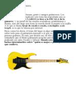 La Escala de La Guitarra _ Guitarristas