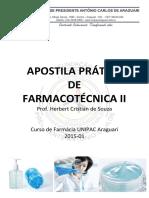 Apostila Prática Farmacotécnica II 2015-01