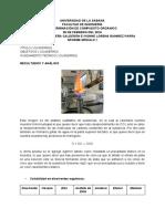 Informe Modulo I. Química Organica