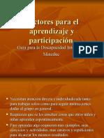 Factores Para El Aprendizaje y Participación