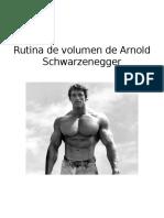 Rutina Arnold Schwarzeneger - Semana 1-8
