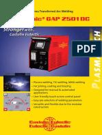 Eutronic Gap 2501 Plasma Transferred Arc Welding