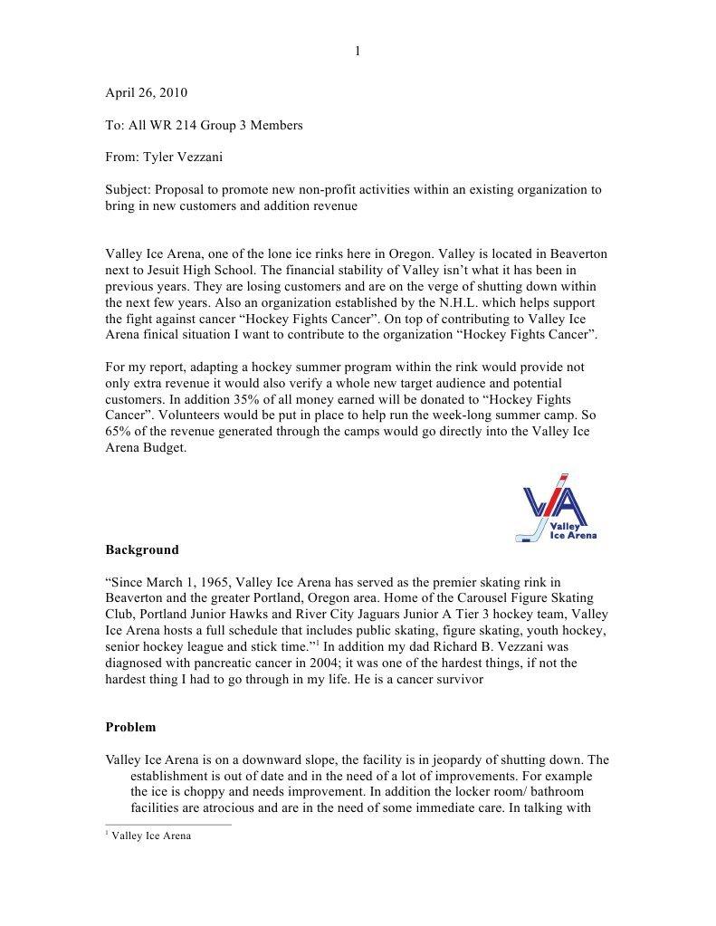 business wr 214 proposal national hockey league sports