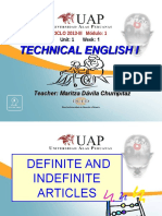 Ayuda 1.1. Definite and Indefinite Articles
