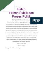 Pilihan Publik Dan Proses Politik Bab 5