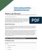 Plant Lab Review