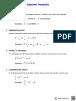 exponents handout