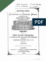 Vayu Purana Volume2 Rajendralala Mitra 1881