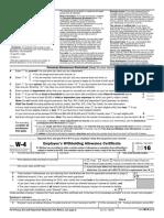 Tax Form 2016