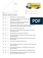 secondary - school bus safety test