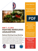 Fighting Marijuana Legalization National Working Group 2015 Meeting flyer