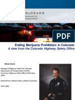 CDOT's Perspective On Ending Marijuana Prohibition in Colorado