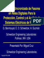 Medición Sincronizada de Fasoresen RelesDigitales Para la Protección, Control y el Análisis de Sistemas Eléctricos de Potencia