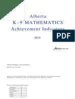 2014 k-9 math achievement indicators  1