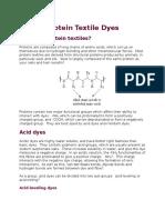 Protein Textile Dyes